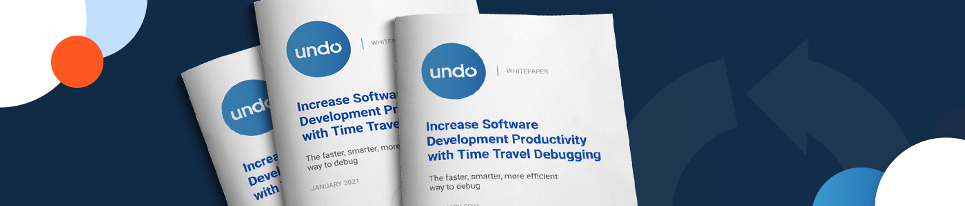 Banner image title, Increase Software Development Productivity with Time Travel Debugging